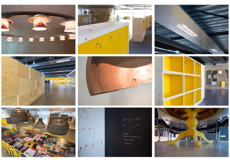 Interieur en details Servicecentrum City Box ontworpen door Babette Porcelijn